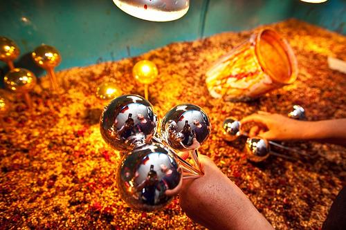 Esferas de Navidad, coloridas obras de arte