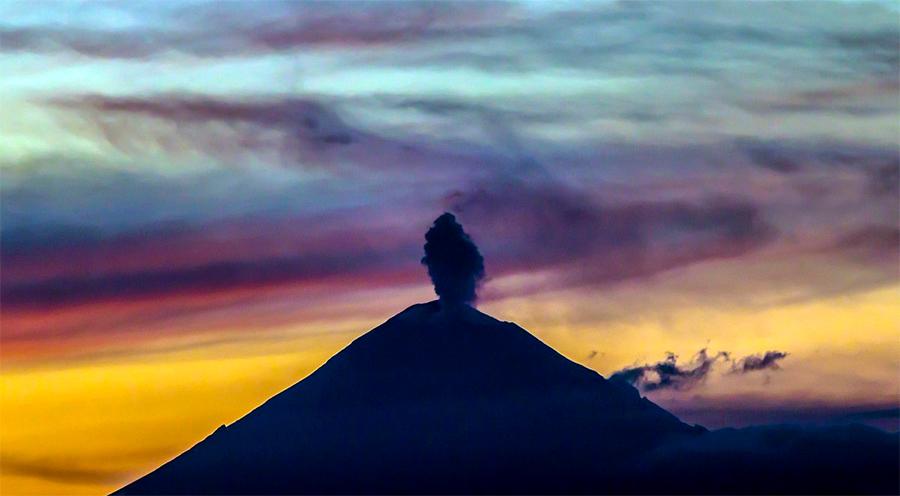 No existe riesgo por actividad actual del Popocatépetl