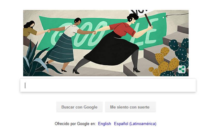 Google celebra a Elvira Carrillo Puerto, defensora del voto femenino
