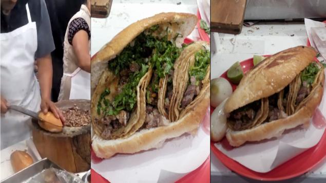 Ya existe la torta de tacos, y la encuentras en Ixtapaluca