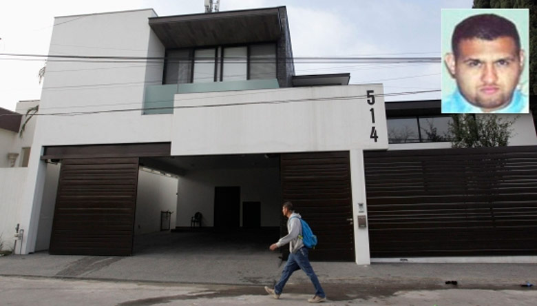 El exterior de la casa donde ha sido detenido Omar Treviño, en el recuadro. Foto: Daniel Becerril