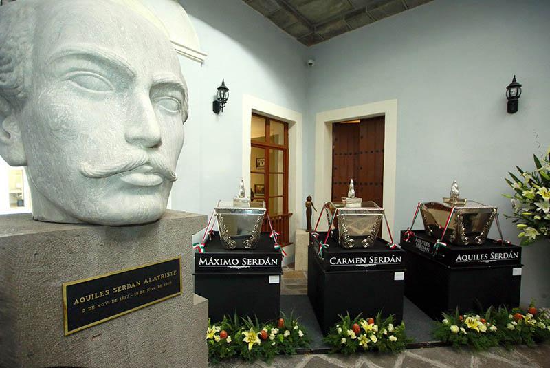 Restos de los hermanos Serdán regresan a casa 107 años después