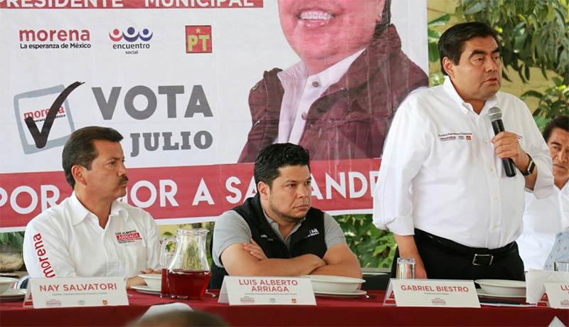 Plantea Barbosa 10 ejes para la transformación de Puebla