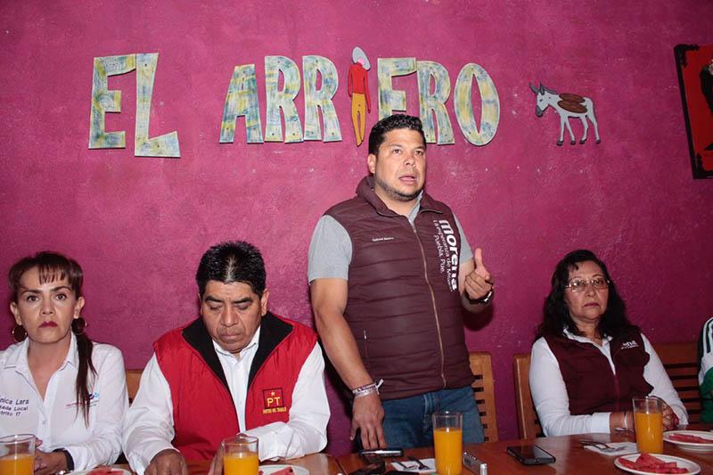 Denuncia Morena 20 puntos rojos en Puebla