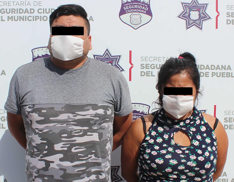 Recupera Unidad Canina de la Policía Municipal de Puebla tractocamión robado; una pareja fue detenida