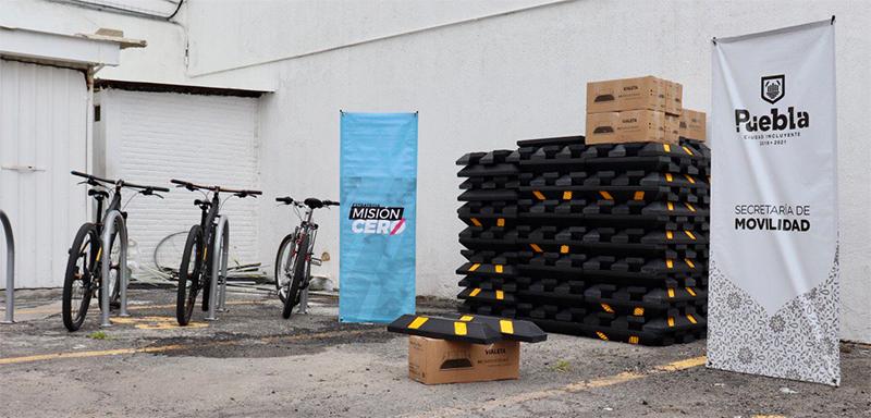 Gobierno de la Ciudad y Cemex refuerzan seguridad en ciclovías emergentes