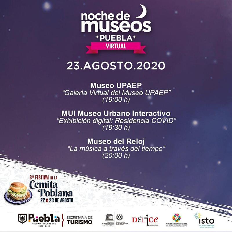 Secretaría de Turismo Municipal invita a la octava Noche de Museos Virtual