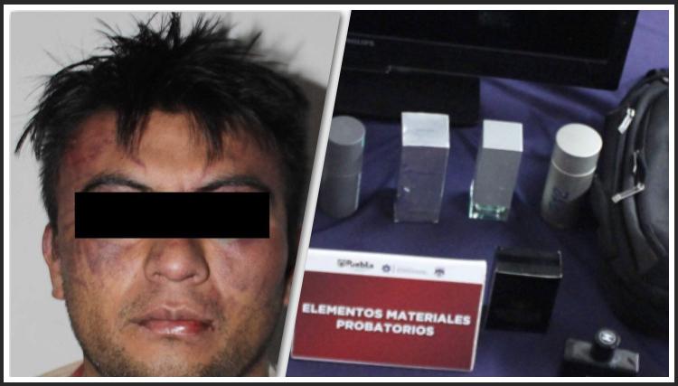 Detiene Policía Municipal de Puebla a hombre presuntamente dedicado al robo a casa habitación