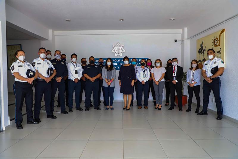 Capacita Servicio de Protección Federal a personal de la SSC de Puebla en materia de salud mental y prevención de adicciones