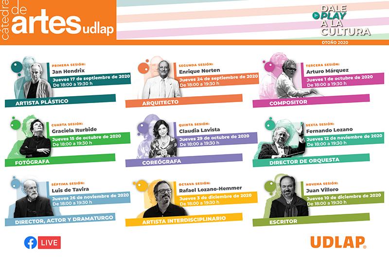 UDLAP presenta su Cátedra de Artes, espacio que promueve la divulgación