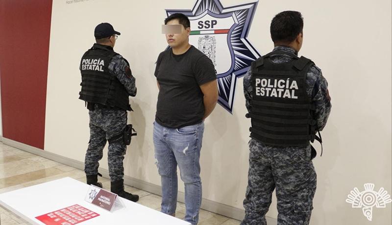 Captura Policía Estatal a presunto vendedor de drogas por internet