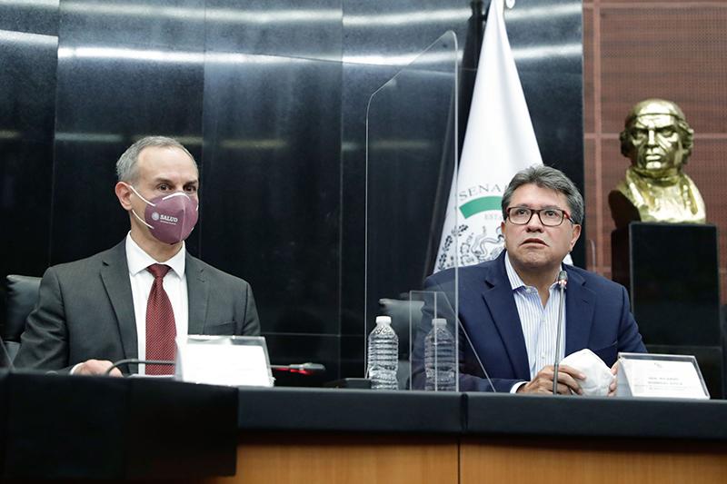 Científico, el manejo de la pandemia, reafirma Hugo López-Gatell ante senadores
