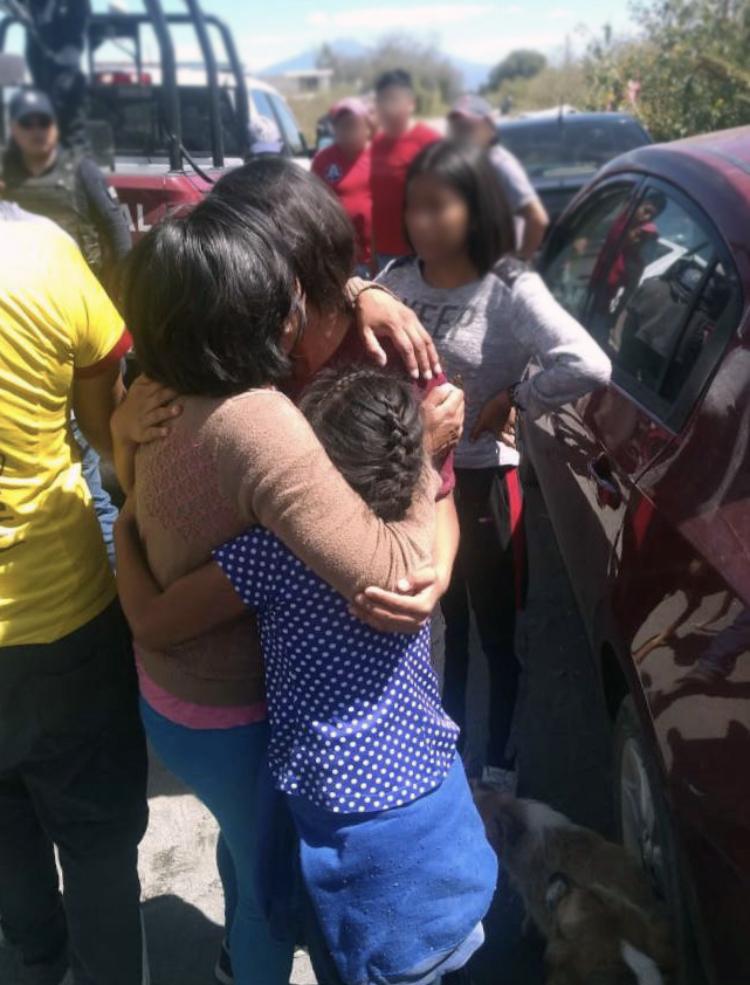 Evita Policía Estatal secuestro de una familia de Huejotzingo
