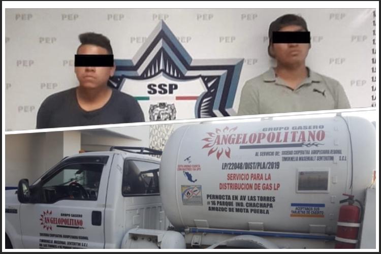 Detiene Policía Estatal a dos «huachigaseros»
