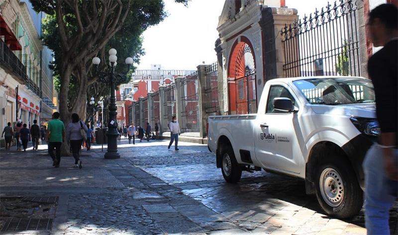 Impiden la instalación de ambulantes en el Centro Histórico