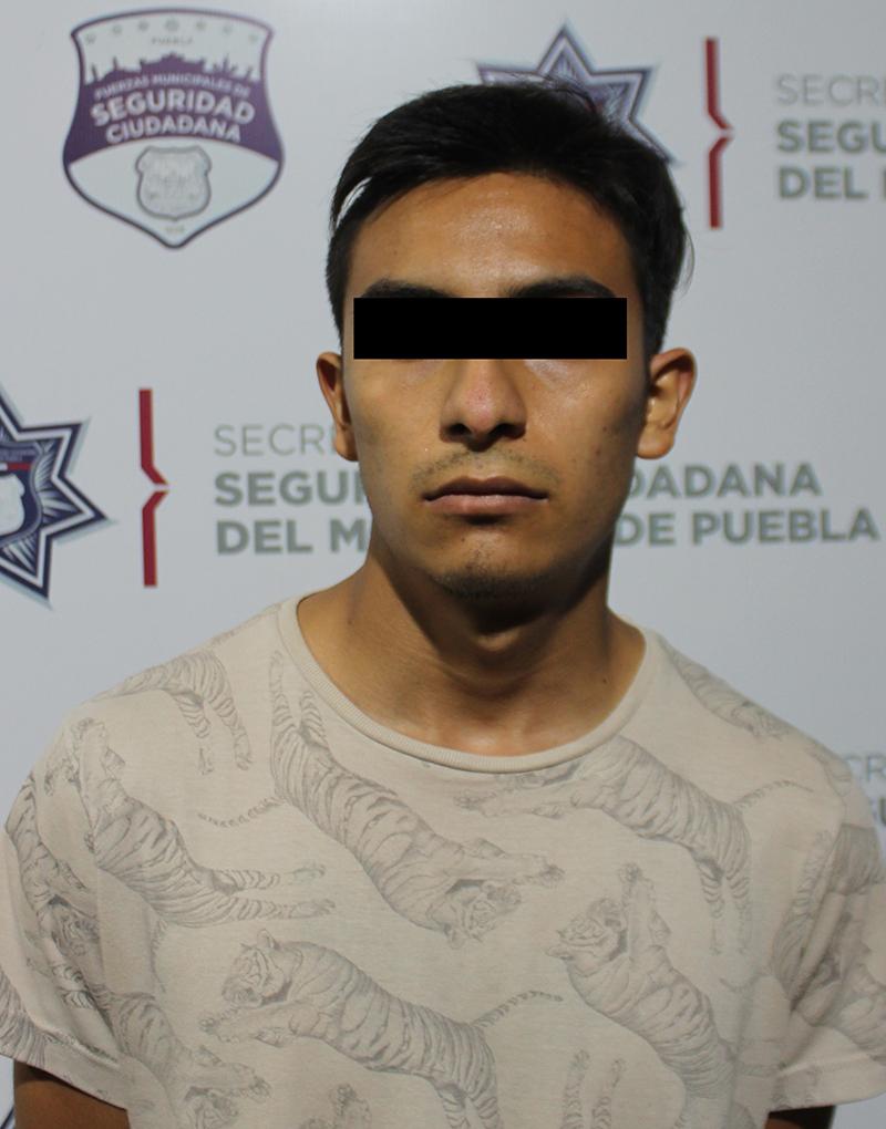 Ubicó y detuvo Policía Municipal de Puebla a hombre presuntamente relacionado en el homicidio de un septuagenario en la colona La Paz