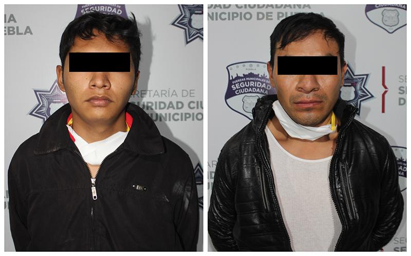 Policía Municipal de Puebla detiene a tres por robo a conductor de DiDi