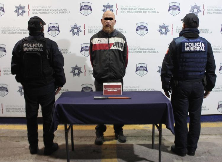 En acción coordinada con la ciudadanía, Policía Municipal detuvo a probable asaltante de casa habitación