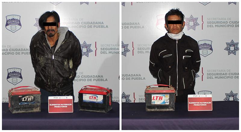 En combate al robo de autopartes, Policía Municipal de Puebla reportó la detención de tres presuntos asaltantes