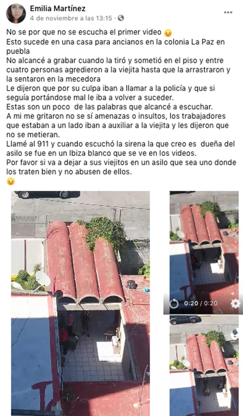 Maltratan a abuelita en un asilo de la colonia La Paz
