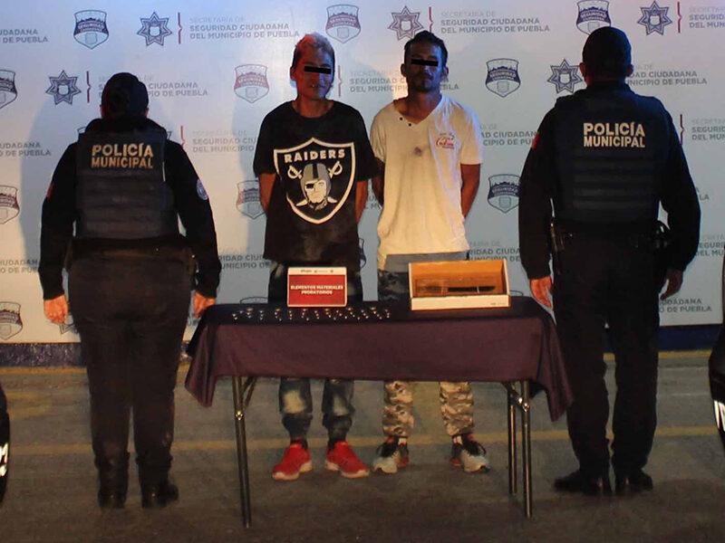 Detuvo Policía Municipal de Puebla al «Pocholo» y el «PH» por robo a la ruta Azteca, unidad 40