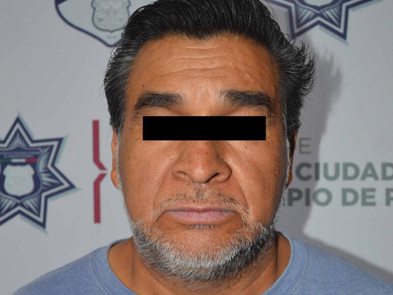 En combate al robo a negocio, detectó y detuvo Policía Municipal de Puebla a probable asaltante que operaba al sur de la ciudad