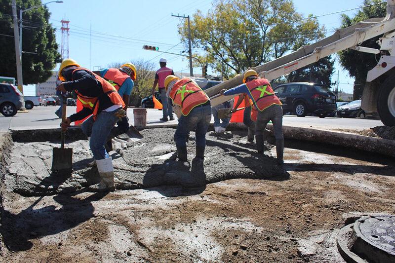 Gobierno de la Ciudad repara mil 200 metros de concreto hidráulico en vialidades