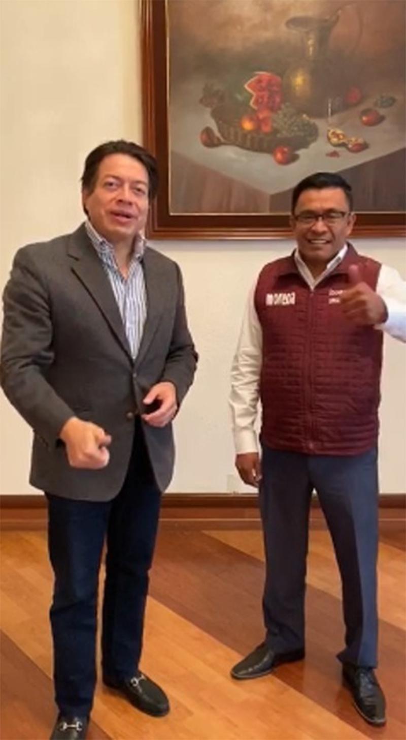 """Trabajamos Puebla y CEN de Morena """"siempre unidos"""", asegura Mario Delgado"""