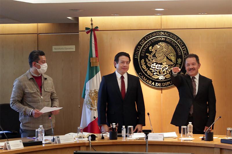 Rinde protesta Ignacio Mier como presidente de la Junta de Coordinación Política