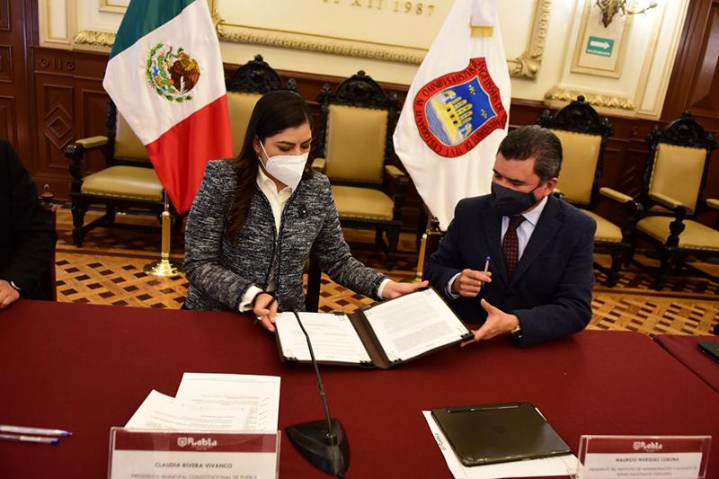 Ayuntamiento de Puebla y Gobierno Federal signan convenio para impulsar desarrollo de infraestructura en telecomunicaciones en el Municipio